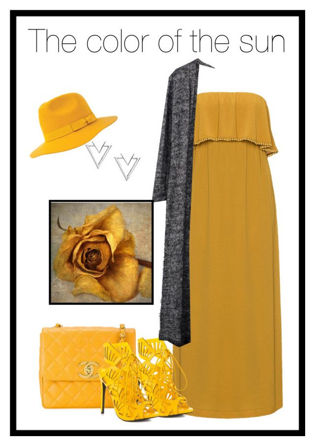 """""""The color of the sun"""" by charmina-linda on Polyvore featuring Mat, Chanel, Nadri, Privileged, Brixton and Taylor"""
