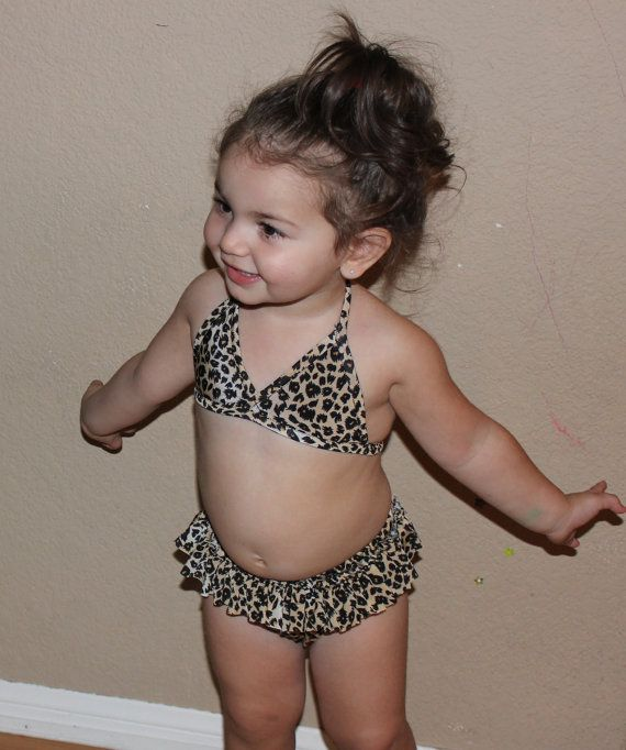 Leopard baby bikini by littledarlingssss on Etsy