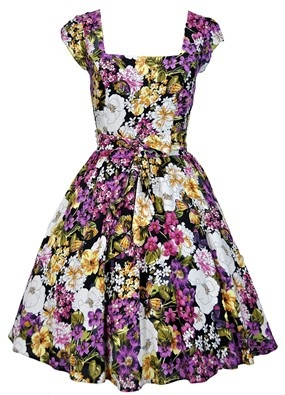 Summer Floral Print Swing Dress £50 from Lady Vintage London