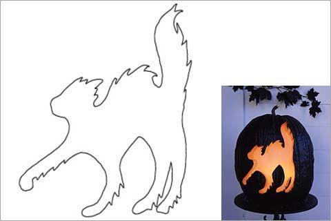 Black cat template halloween pinterest for Black cat templates for halloween
