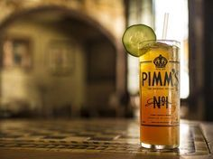 Pimm's Cup : Napoleon House Fill a tall 12 oz glass with ice and add 1 1/4 oz. Pimm's #1 and 3 oz lemonade. Then top off with 7up. Garnish with cucumber.