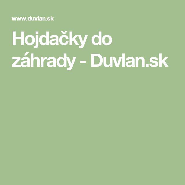 Hojdačky do záhrady - Duvlan.sk