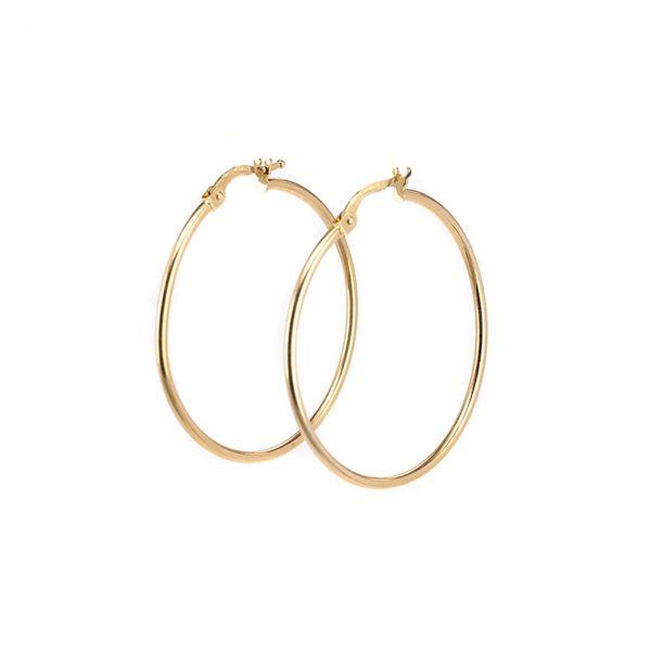 Σκουλαρίκια κρίκοι χρυσό Κ14 -7185