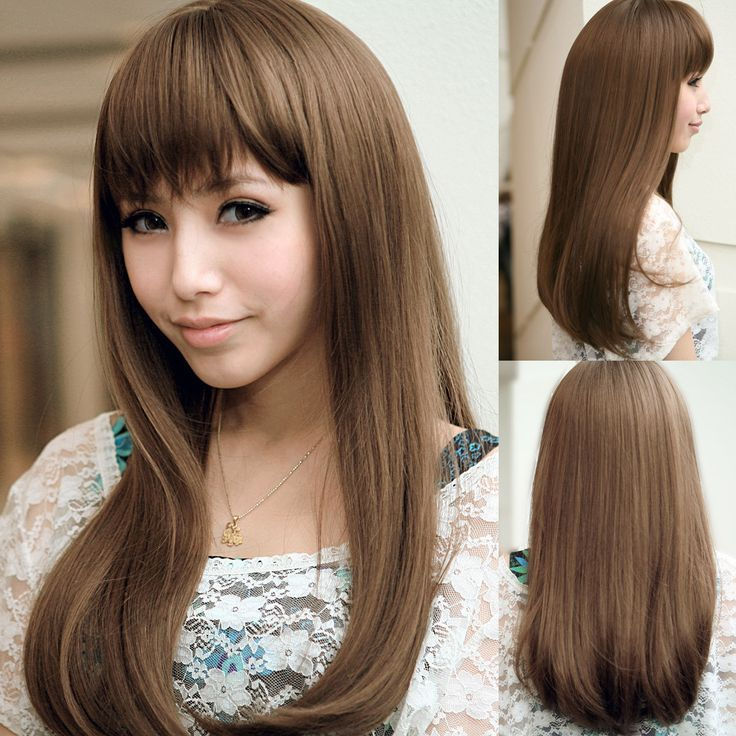 Floral house girls, real new Japanese hairstyle fringe fatao fluffy nature long brown straight hair – www.9channel.com – TaoBaoProduct