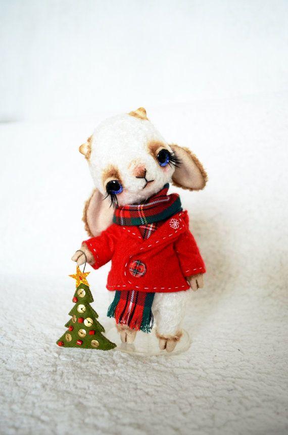 Teddy Bear stile Artist viscose OOAK Christmas by SanaTeddyBears