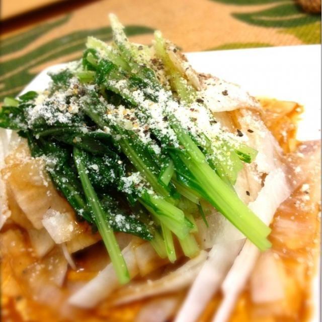野菜が冷蔵庫にたまってきたので消費メニュー。(≧з≦) - 130件のもぐもぐ - 水菜と大根のハリハリサラダ by shinjiterao