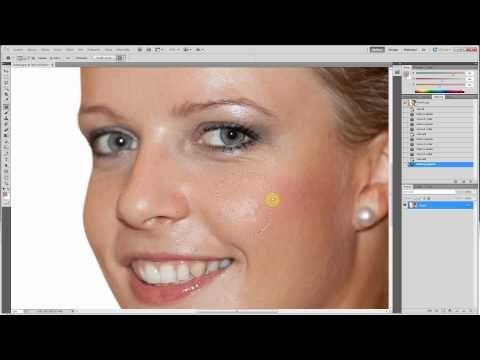 Úprava fotek v Adobe Photoshop - návod - jas, retuš, kontrast, odlesky, vrásky - YouTube