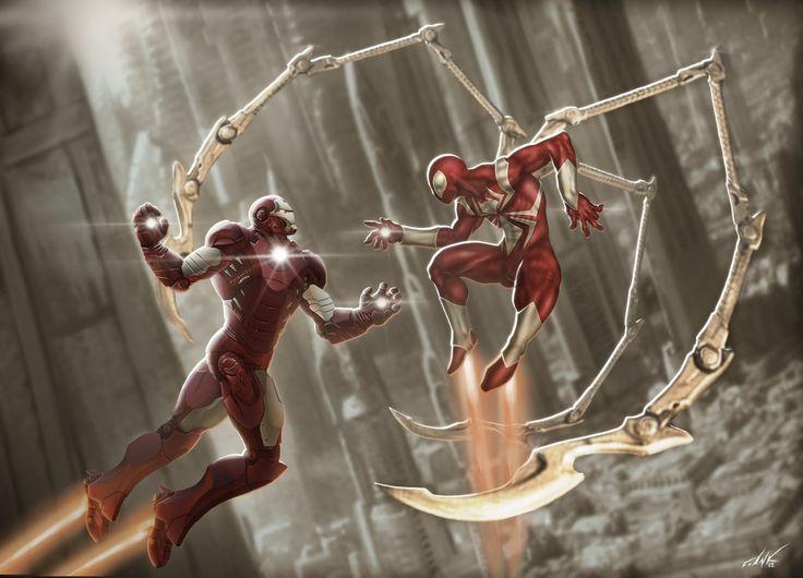 #Iron #Spider #Fan #Art. (Ironman vs Iron Spiderman) By:FrankSandovalArt. ÅWESOMENESS!!!™ ÅÅÅ+