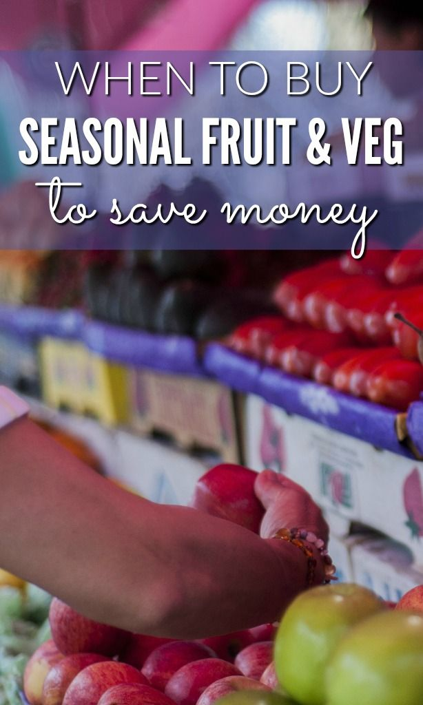 Don't overspend on your fruit and veg – make sure you're smart and buy fruit and seasonal vegetables to save as much as possible on your supermarket and grocery spend.