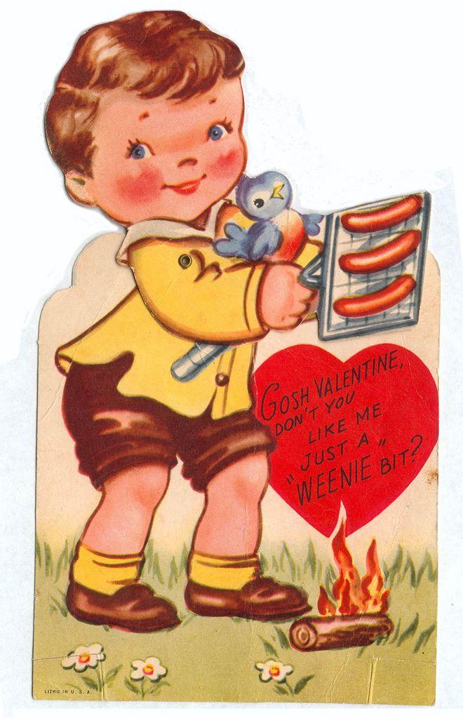 Vintage weenies Valentine