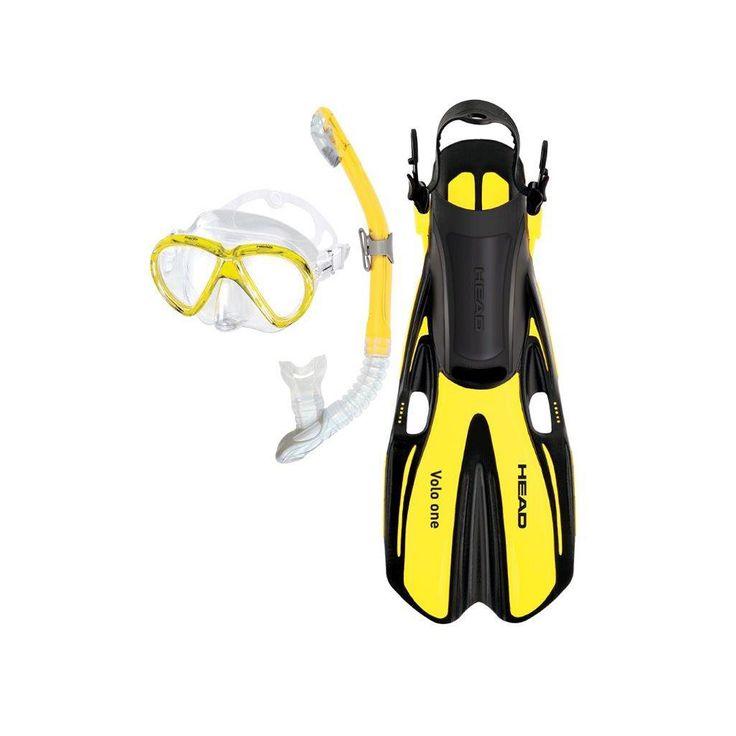 Head 3-pc. Marlin Purge Dry Snorkel Set, Yellow