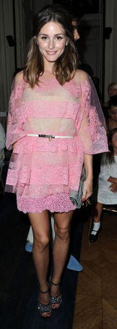 Olivia Palermo: shoes - Giuseppe Zanotti Skirt and shirt - Valentino