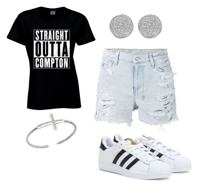 """Straight outta Compton!"" by pierce-macaiyah ❤ liked on Polyvore featuring Ksubi, adidas and Karen Kane"