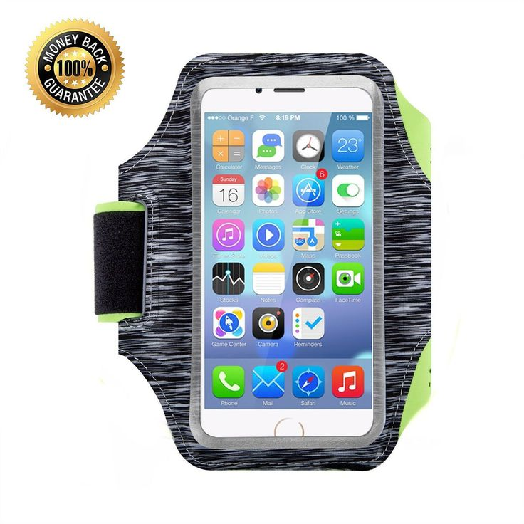 Sport Running Armband, 5.5 Inch Adjustable Reflective Velcro Workout Band for iPhone 7/6/6S Plus, Galaxy S7/S8, Nexus 5 with Screen Protector ( Gray ). Sfits all Phone--This includes the iPhone 8,7, 6, 6s, 5, 5s, 5c, Samsung Galaxy S5/S6/S7 /S7 Edge/S8,Note 4, Note, LG /G2, Google Pixel, Blackberry, ect. The clear front allows touchscreen access. Quality materials: Our armband is Made from Polyamide lycra which is strong, soft, lightweight, water resistant and ultra thine. Features...