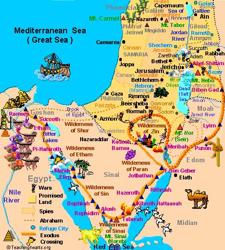 Map of Ancient Canaan for kids | What was the land that god promised the Jews of?
