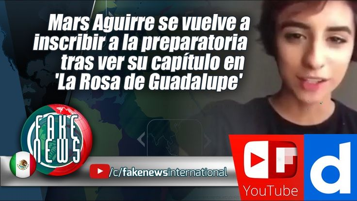 Mars Aguirre se vuelve a inscribir a la preparatoria
