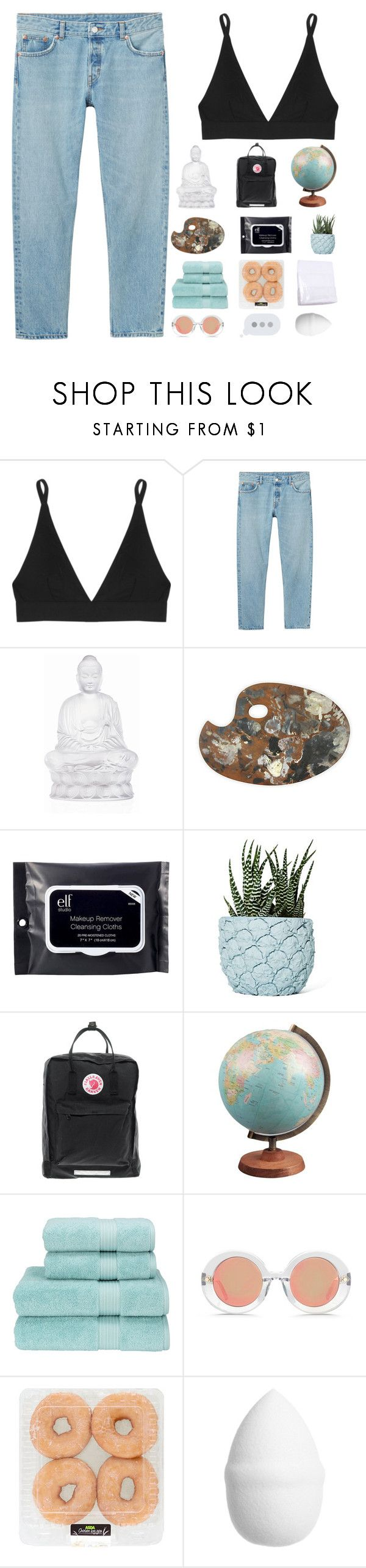 """bad reputation | ♡"" by titaniium ❤ liked on Polyvore featuring Base Range, Monki, Lalique, e.l.f., Chen Chen & Kai Williams, Fjällräven, Christy, Matthew Williamson and H&M"