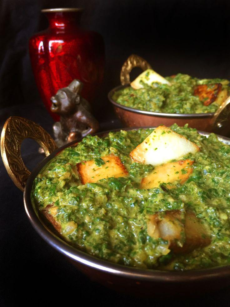 Vegan Aloo Palak (Indian Spinach & Potato Curry)   Vegan