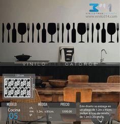 » .. Vinilo 3 14 .. « Vinilos decorativos Cubiertos, cuchara, tenedor. Sticker decorativo. Calcomanías de Pared. Decoración de muros y superficies lisas. Decoración del Hogar, Cocinas, restaurantes, cafeterias y Comercios. Pegatinas, tatuaje mural, rótulo, calca, estampa. www.vinilo314.com