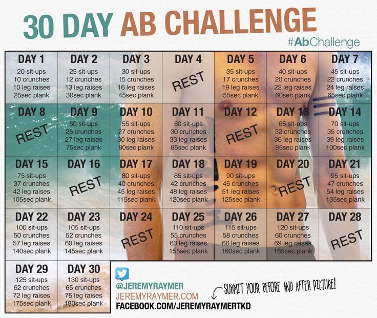 Challenge 30 Jours Abdos
