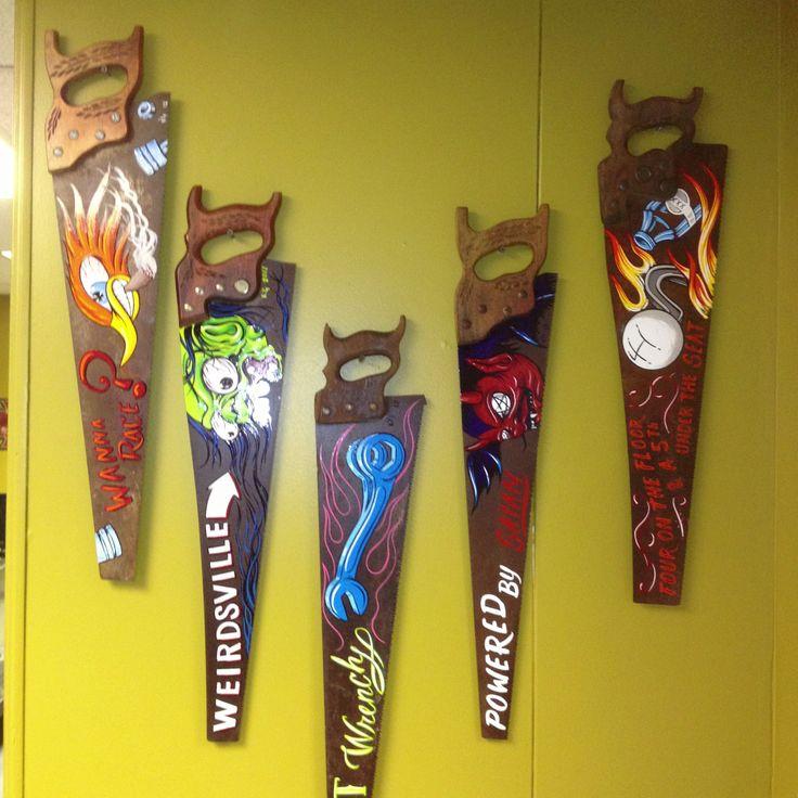 Custom painted saws