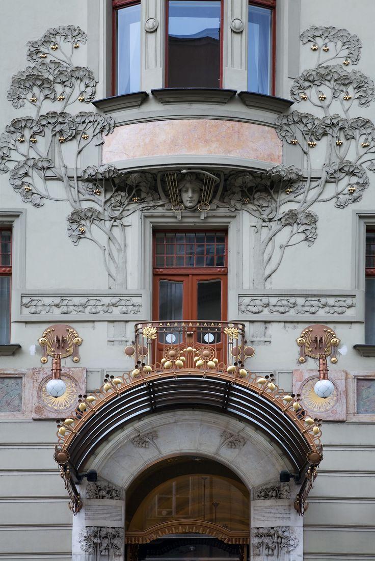 1404 best art nouveau architecture images on pinterest for Architecture art nouveau