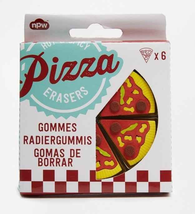 Pizza Erasers, $8