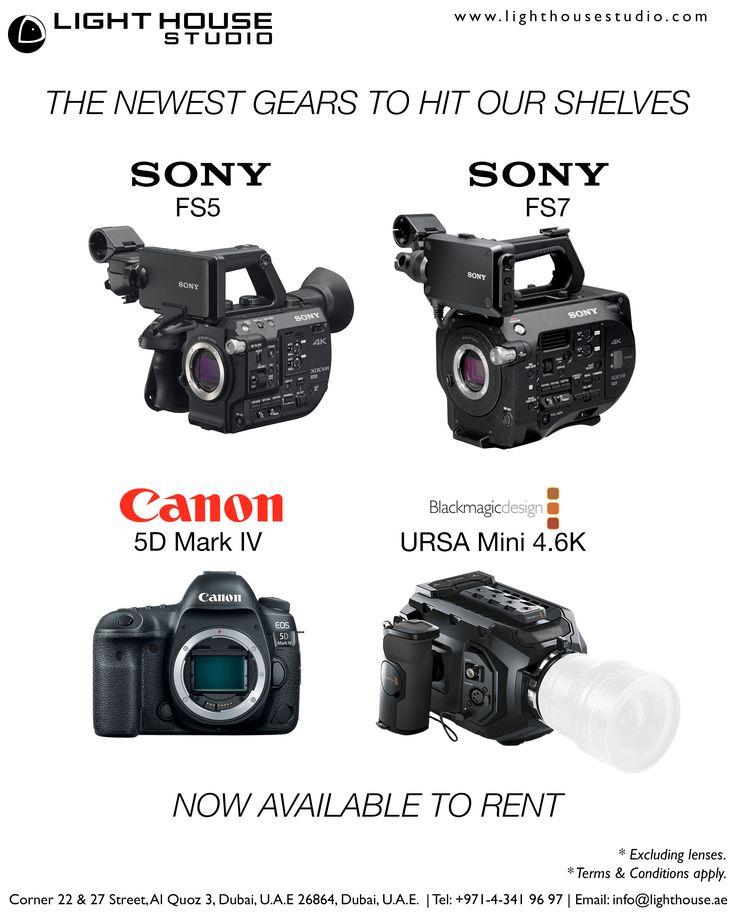 1. Sony FS5 Camera   PRODUCT HIGHLIGHTS   Super 35-Sized CMOS Sensor Sony E-Mount UHD at 24/30 FPS, HD Up to 240 FPS XAVC Long, AVCHD Recording Codecs 2 x SD Media Card Slots HD/3G-SDI & HDMI Output Supports Wi-Fi and NFC   2. Sony FS7 Camera   PRODUCT HIGHLIGHTS   Super 35 Sized CMOS Sensor Sony E-Mount DCI 4K (4096 x 2160) Up to 60p UHD Up to 60 FPS, HD Up to 180 FPS 4096 x 2160 Via External Recorder XAVC-I, XAVC-L, MPEG-2 XAVC-I Up to 600 Mb/s Dual XQD Memory Card Slots Dual HD/3G-SDI…