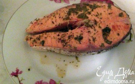 Стейк семги с базиликом | Кулинарные рецепты от «Едим дома!»