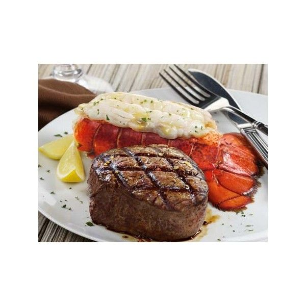 Filet Mignon & Cold Water Lobster Tails: Mail Order Steaks & Seafood ($100) ❤ liked on Polyvore featuring food and food and drink