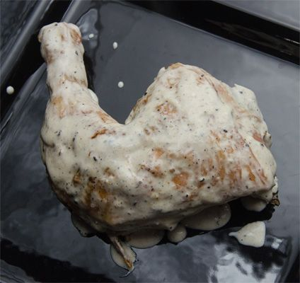 Big Bob Gibson's White BBQ Sauce - My sister-in-law Nancy & brother JD made this with boneless chicken and its AMAZING !