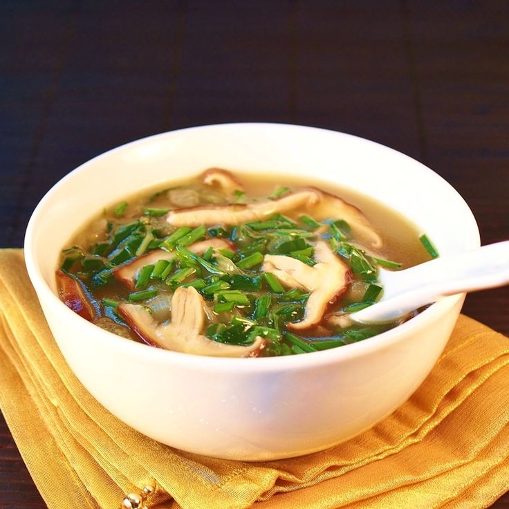 Easy bok choi or tatsoi and mushroom soup...thicken with egg if you are in need of some protien