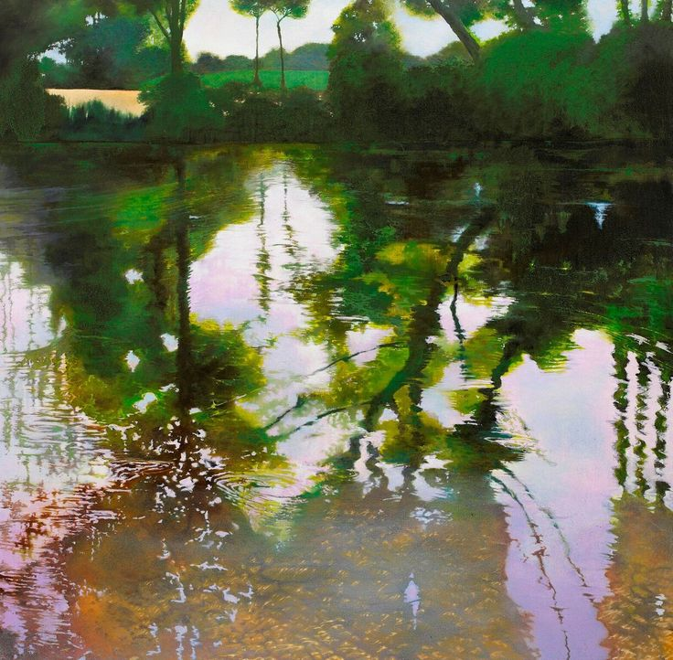 Reflections: Reflections oil on canvas 90cm x 90cm The post Reflections appeared first on ArtClickIreland.com. #IrishArt