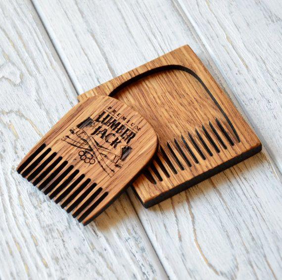 Lumberjack Beard comb Personalized custom engraved by EnjoyTheWood