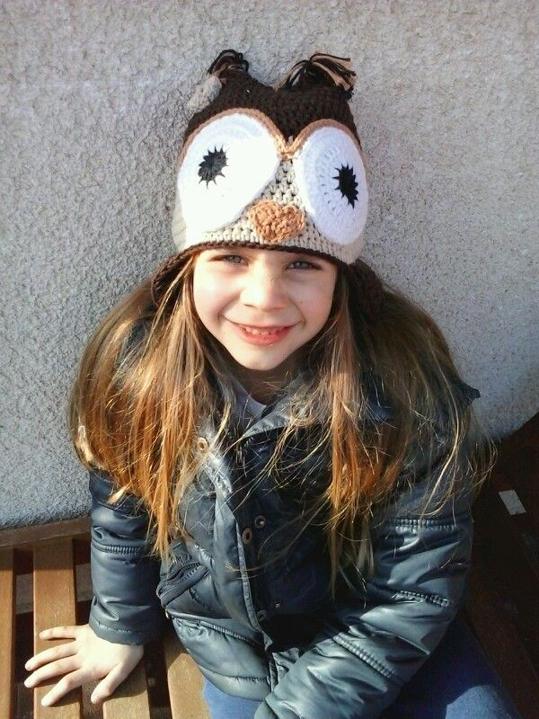 Crochet owl hat / Horgolt baglyos sapi