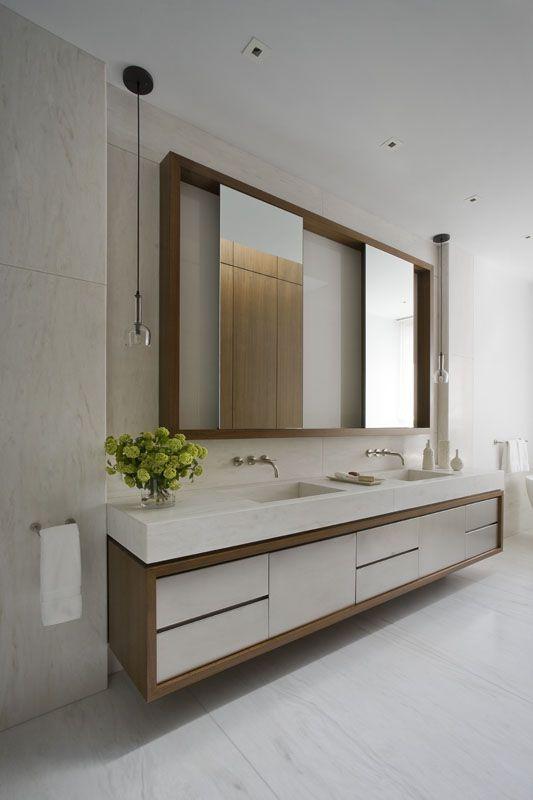 add wood surrounding ikea vanity