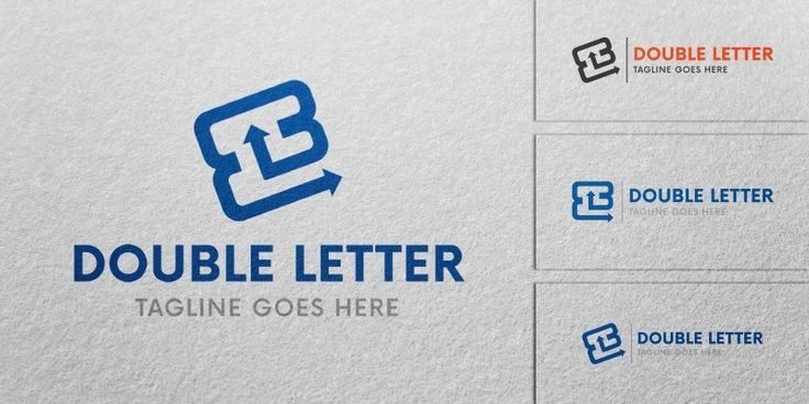 Double Letter Logo Template for Sale: 19$ + TVA