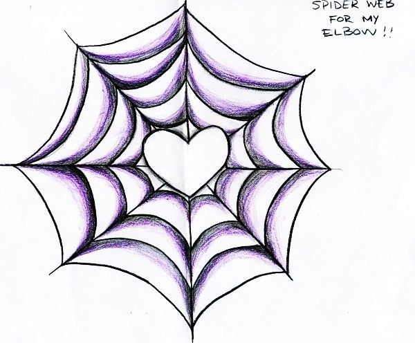 SpiderWeb - Elbow Tattoo by OmniBaby.deviantart.com on @deviantART