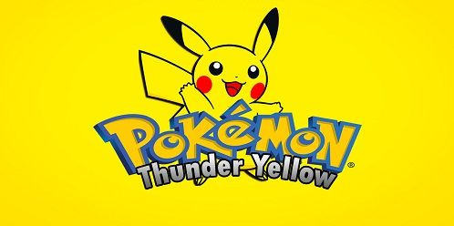 "http://www.pokemoner.com/2016/08/pokemon-thunder-yellow.html - Remake by: Feather Description: - 100% faithful to Pokémon Yellow. - Pikachu will follow. - GB Player (Music Player Gameboy) - Sprites from Pokémon Yellow re-modeled. - Possibility to get Bulbasaur, Charmander and Squirtle. - ""System"" Pikachu happiness. - Anti Jessie & James. - Wild Pokemon and coaches were changed. - New sprites for trainers and gym leaders."