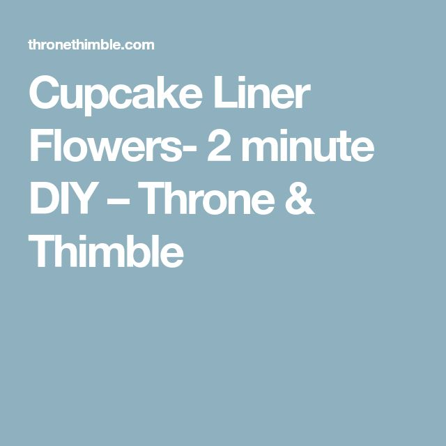 how to make cupcake liners with paper