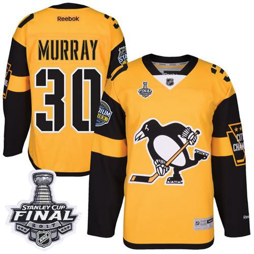 penguins 30 matt murray gold 2017 stadium series stanley cup final patch stitched nhl jersey