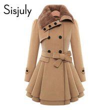Sisjuly mujeres abrigo de invierno abrigo de otoño con la correa corta de las mujeres estilo de la moda abrigo de manga larga moda delgado rojo de color caqui de las mujeres abrigos(China (Mainland))
