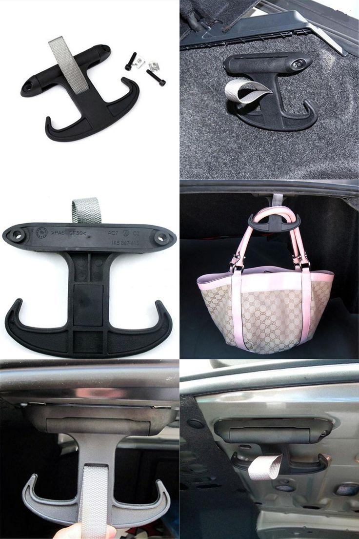 [Visit to Buy] Car Trunk Bag Hook Hanger Holder Automatically Retracted Trunk Sundries Hook For  Octavia Fabia Superb  Passat Jetta #Advertisement