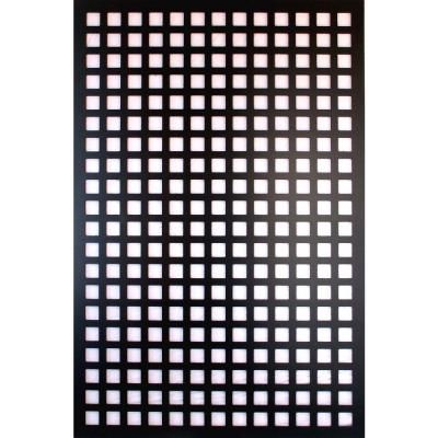 Acurio latticeworks 1 4 in x 32 in x 4 ft black square for Lattice screen fence