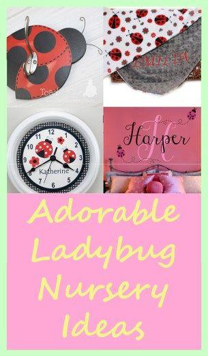 Ladybug Nursery Ideas-  Ladybug Room -  Girl Nursery Theme www.acraftylife.com