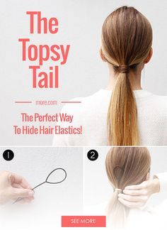 The Topsy Tail is a great hair hack for getting a perfect ponytail every time.