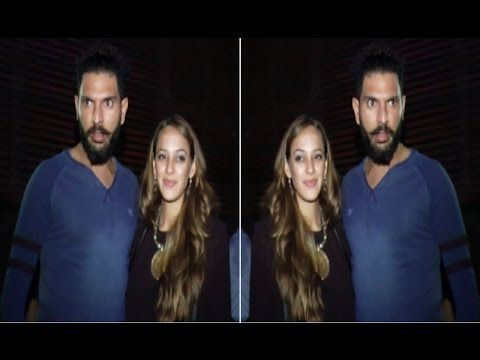 Yuvraj Singh with Hazel Keech attends Subrata Roy's Grand dinner party.