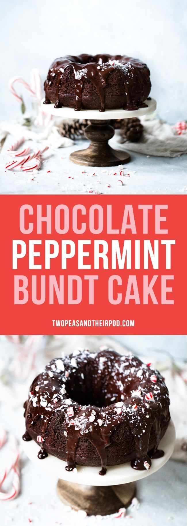 Chocolate Peppermint Bundt Cake is the perfect dessert for Christmas and the holidays. My family loves this recipe, and I know that yours will too!