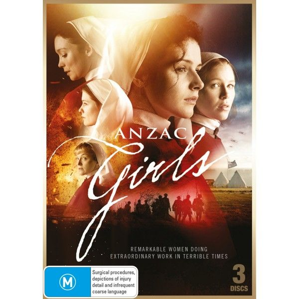 DVD of the ANZAC GIRLS Mini Series of real life experiences of World War One Australian Nurses AANS