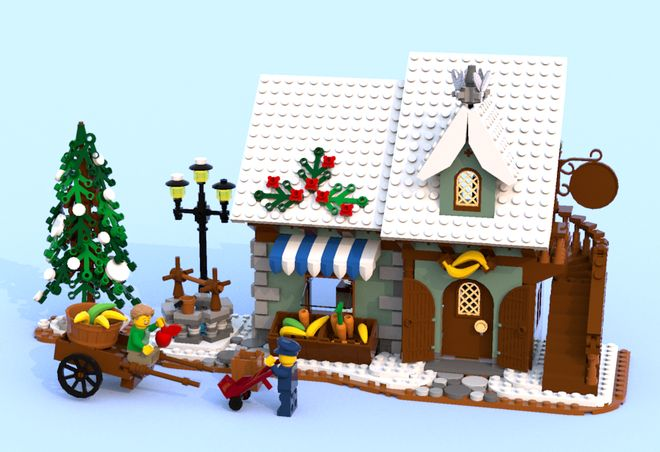 A new store is arrived in town!! Inspired by the famous modular building, the Green Grocer, the Winter Green Grocer is a beautiful little store that fits perfectly in your W...